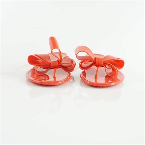 Jelly Shoes Sz37 New valentino jelly bow sandals size 37 for sale at 1stdibs