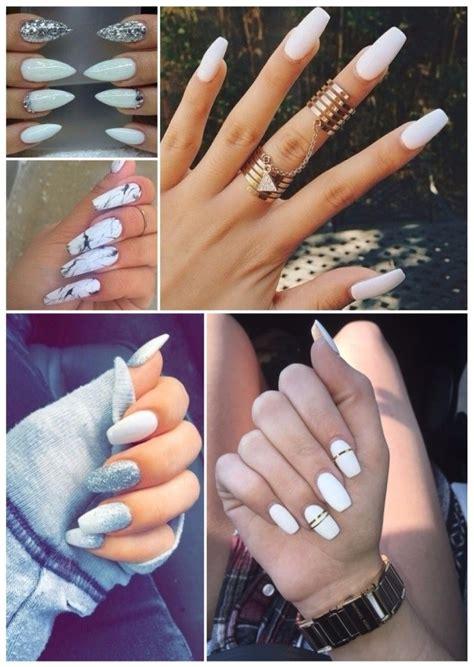imagenes de uñas blancas con azul dise 241 os de u 241 as postizas decoradas 161 30 u 241 as que te