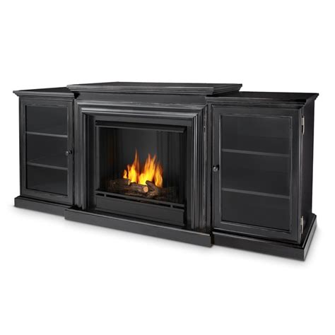 72 quot frederick blackwash entertainment center gel fireplace