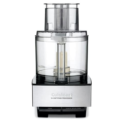 cuisinart brushed stainless and black series custom 14 cup