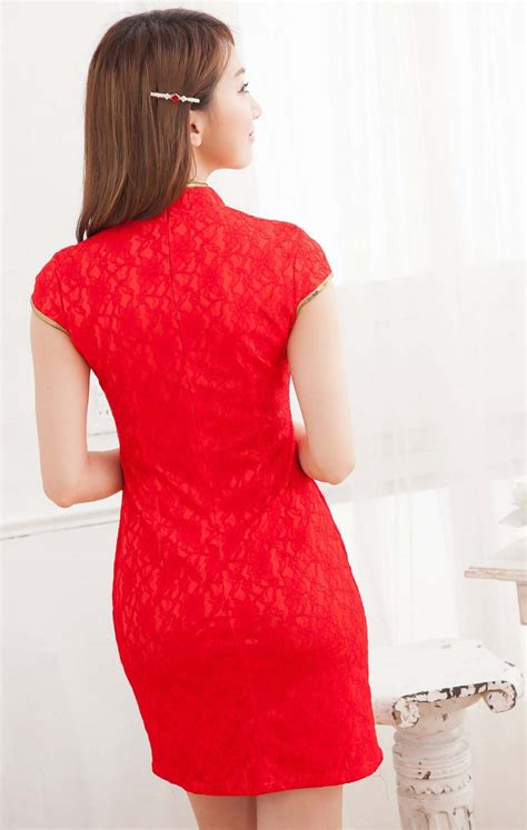 Dress Import China Kode Cc16025 1 dress cheongsam merah modern terbaru model terbaru jual murah import kerja
