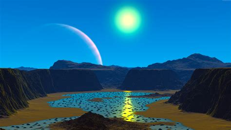 imagenes ultra hd 3d 3d alien planet 7680x4320