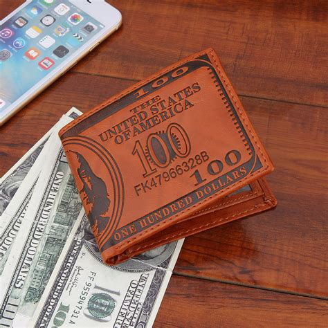 Leather Credit Card Wallet Template Creative Us Dollar Pattern Leather Id Cards Money Credit Card Wallet Lo Ebay