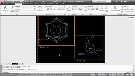 autocad tutorial annotative text autocad annotative objects tutorial youtube