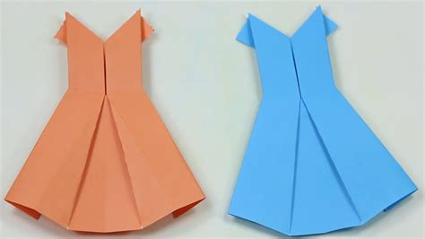 how to make origami wedding dress how to make paper dress easy tutorials for beginners how