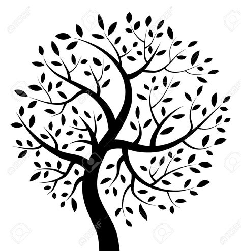 black and white tree images black and white tree of clipart