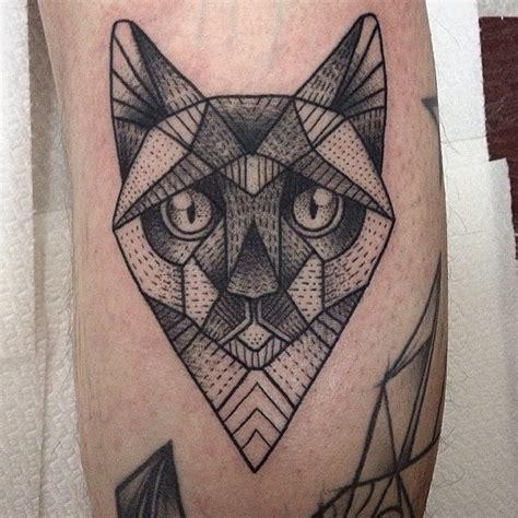 geometry cat tattoo by susanne k 246 nig best tattoo ideas
