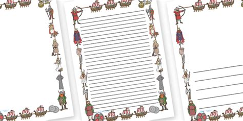 Viking Writing Template twinkl resources gt gt viking page borders gt gt thousands of