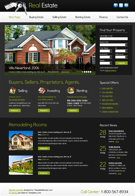 15 Best Free Real Estate Templates Realtor Website Templates