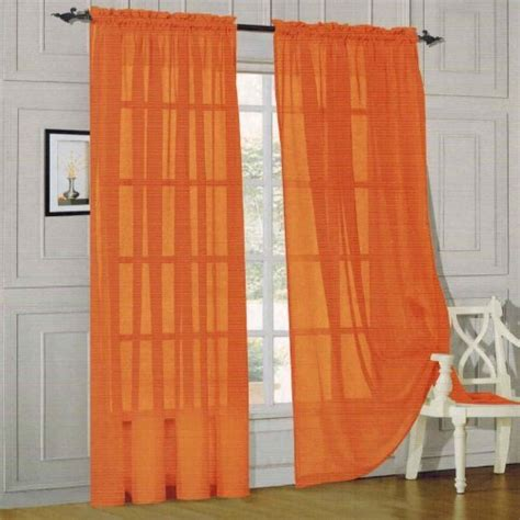 60 inch curtains elegant comfort 2 piece solid sheer panel with rod pocket