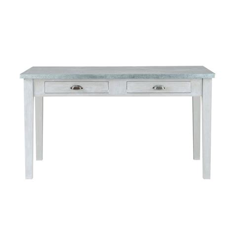 Wooden Table L Grey Acacia Wood Dining Table L 140 Cm Zinc Maisons Du Monde