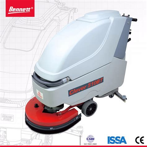 walk behind electric scrubber floor surface cleaning
