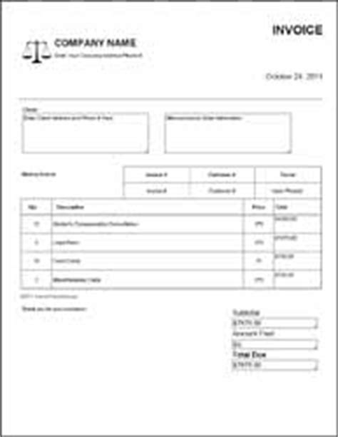 solicitors invoice template lawyer invoice template images frompo 1