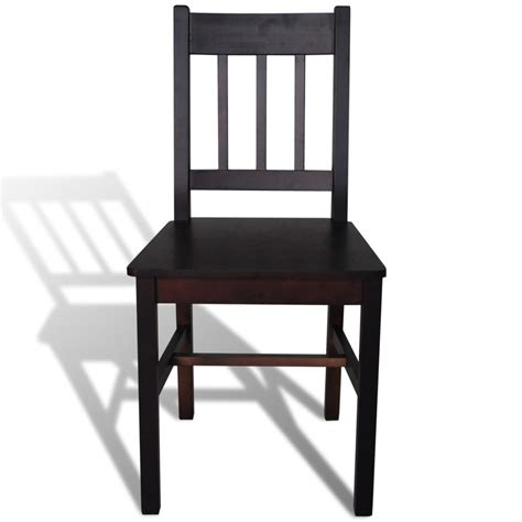 Dining Chairs 6 6 Pcs Brown Wood Dining Chair Vidaxl Co Uk