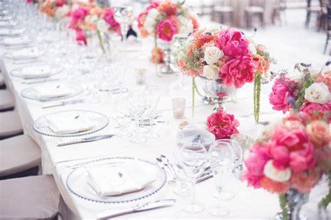 tischdeko hochzeit lachsfarben romantische deko im shabby chic stil aequivalere