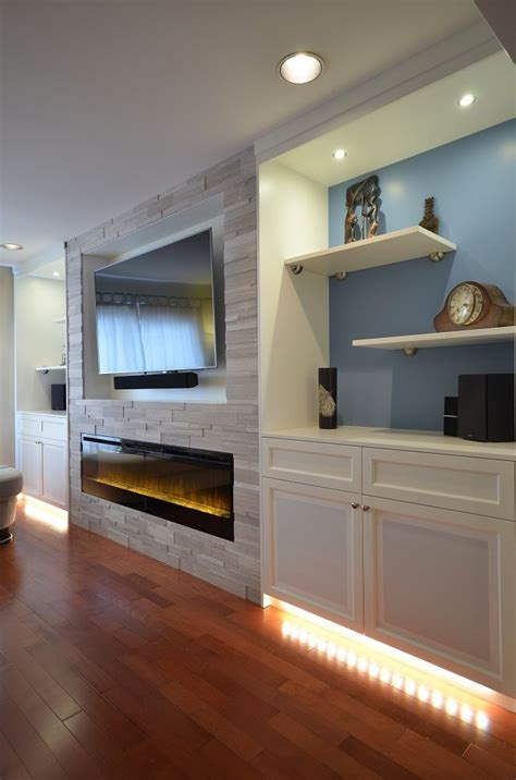 Fireplace In Cabinetry Modern