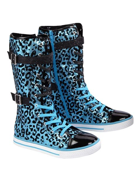 justice shoes clothing sneakers embellished animal high tops