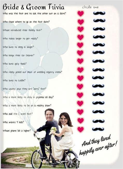 Wedding Trivia by He Said She Said Bridal Shower Bridal Shower