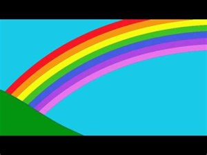 7 colors of the rainbow in order the rainbow colors song