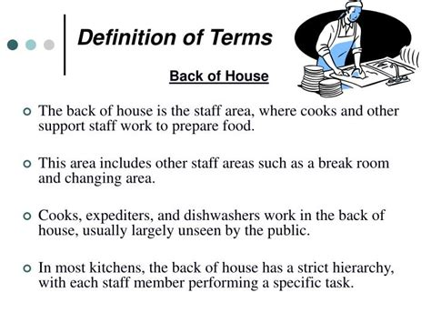 Ppt Front Of House Vs Back Of House Service Powerpoint Presentation Id 1030159