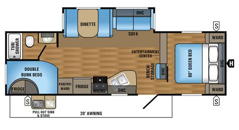 two bedroom rv floor plans glendale titanium fifth wheel floorplans ideas including 2
