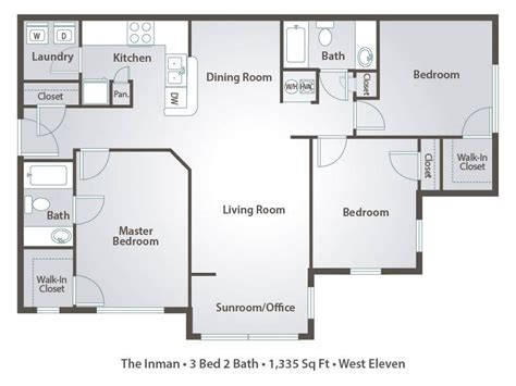 three bedroom apartments floor plans 1 bedroom apartment floor plans pricing west eleven atlanta ga