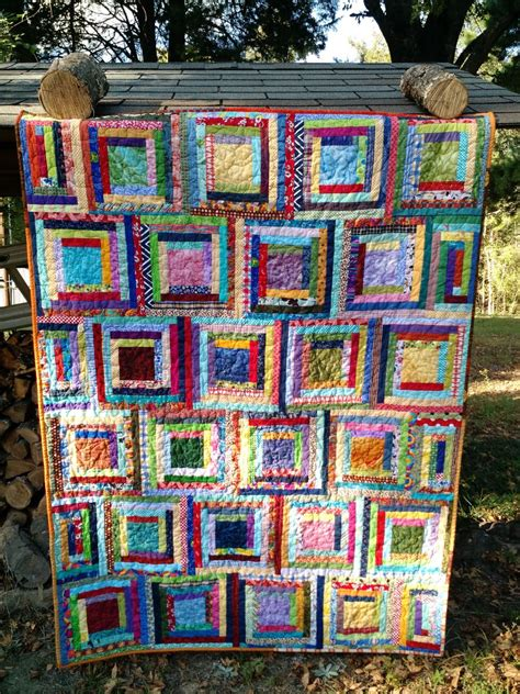 log cabin quilt cat quilts scrappy log cabins