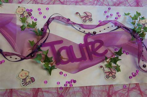 Tischdeko Hochzeit Fuchsia by Schriftzug Taufe Pink Fuchsia Die Tischdekoration Zur Taufe