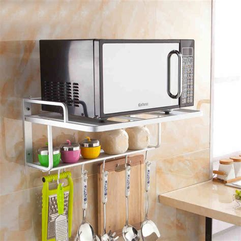 Wall Shelf For Microwave Oven by New Style Kitchen Shelf Wall Rack Microwave Oven Wall