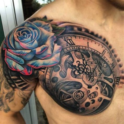 61 stunning clock shoulder tattoos