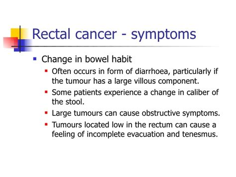 Digital Evacuation Of Stool by 1 Anorectal Cancer Symptoms And Signs