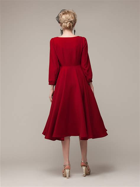Sleeve Chiffon Midi Dress sleeve chiffon midi dress with bowknot abaday