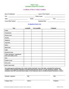 motor vehicle form template best photos of printable vehicle inspection checklist