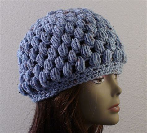 knit puff stitch puff stitch crochet hat free crochet pattern