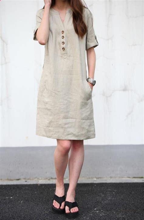 Blouse Babydol Katun Linen Import Jumbo khaki linen dress maxi dress cotton dress casual