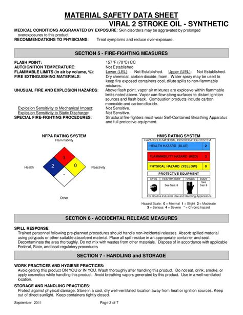 msds flashpoint section 45004 viral 2 stroke oil synthetic ghs msds 10 7 2011 by