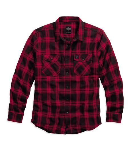Plaid Cotton Shirt harley davidson mens plaid cotton flannel shirt