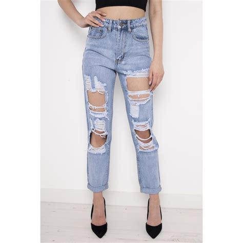 high waisted light wash jeans high waisted torn jeans bbg clothing
