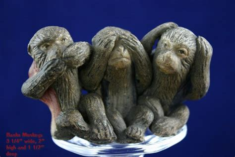 antique japanese bankoware evil monkey figural from