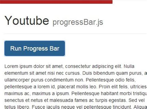 jquery top bar smooth progress bar loading effect with jquery free jquery plugins