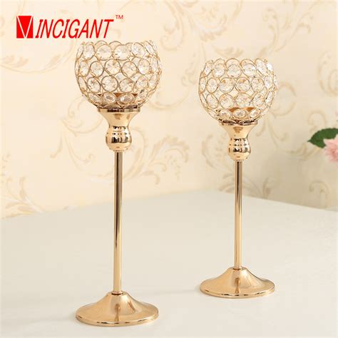 Candle Holder Lantern Centerpieces Vincigant Golden Candle Holder Metal Candle Stand