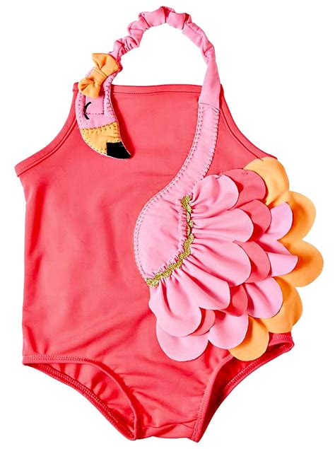 baby bathing suits 3 6 months mud pie baby flamingo one swimsuit