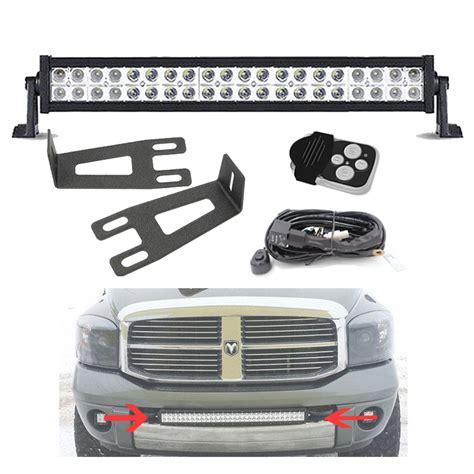 light bar for dodge ram 2500 20 22 quot led light bar bumper mount brackets kit for 09 16