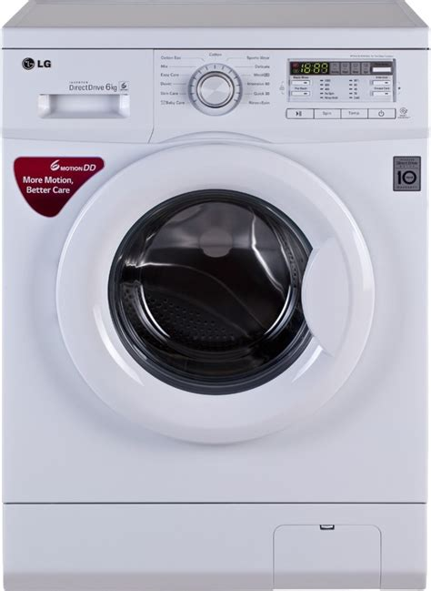 what is the best washing machine lg 6 kg fully automatic front load washing machine white price in india buy lg 6 kg fully