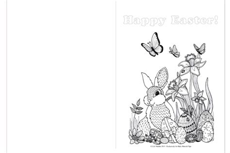 Easter Coloring Cards Printable