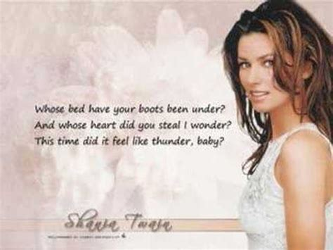 whose bed has your boots been under lyrics shania twain whose bed have your boots been under youtube