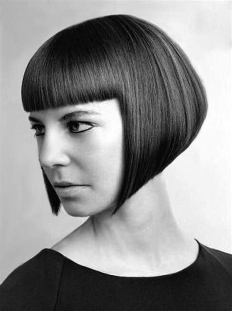 sharp hair ut for long hair sharp a line bob with straight bangs keep it short