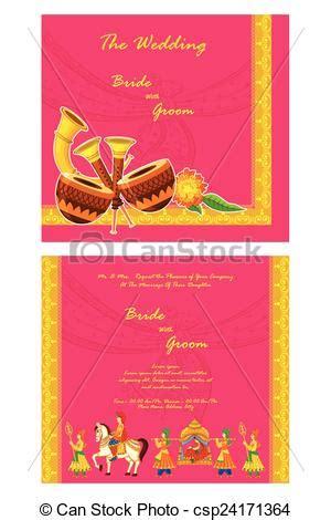 clipart for hindu wedding invitations clip vector of indian wedding invitation card vector illustration of csp24171364