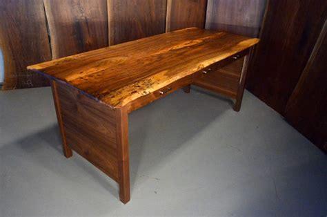 3 foot computer desk custom reclaimed walnut three drawer desk by dumond s