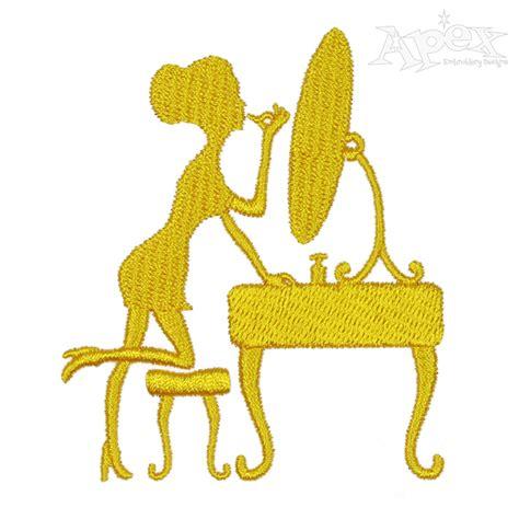 embroidery design maker make up girl embroidery design